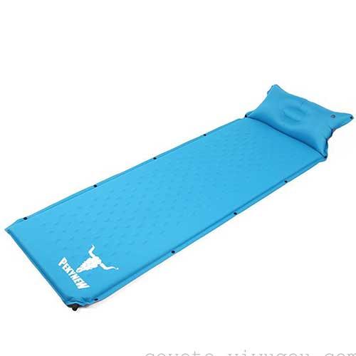 تشک بادی و زیرانداز فومی خودبادشو . رنگ آبی وزن 950 گرم. ابعاد 185*60