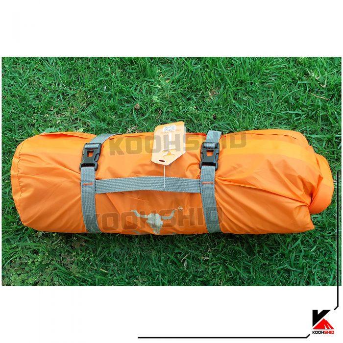 بسته بندی چادر دو پوش ضدآب کوهنوردی 3 تا 4 نفره کله گاوی اورجینال (پکینیو) مدل Pekynew C2006 نارنجی