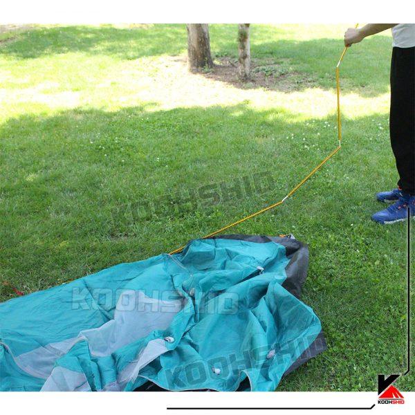 چادر دوپوش ضد آب کوهنوردی یک نفره اورجینال اسنوهاک مدل Snow Hawk t1001