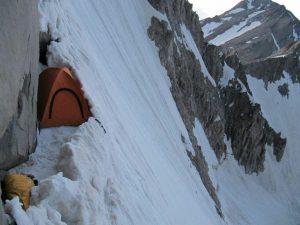 چادر کوهنوردان در ارتفاعات