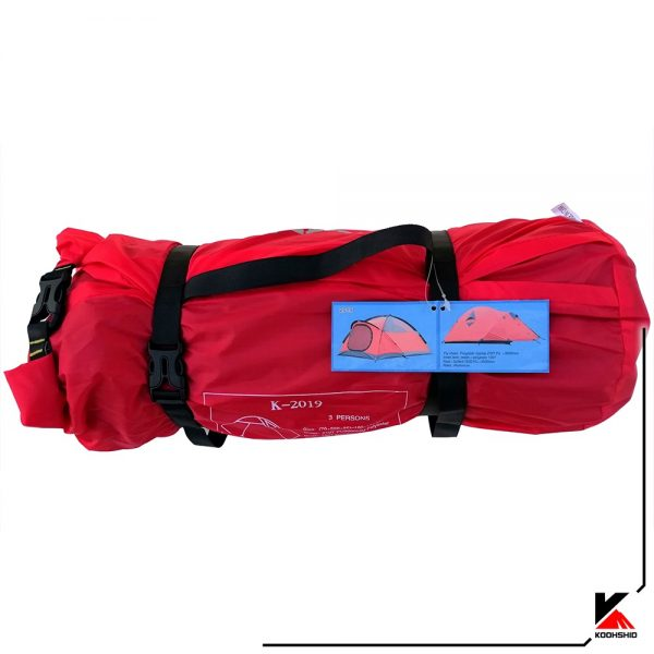 بسته بندی چادر سه نفره کله گاوی مدل K2019