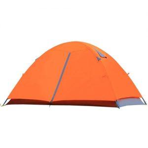 چادر کوهنوردی کمپسور با ظرفیت 2 تا3 نفره وزن 2 کیلو گرم پوش دوم و بارانی چادر رنگ نارنجی