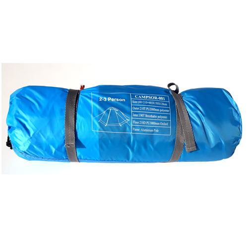 بسته بندی چادر کوهنوردی کمپسور وزن 2 کیلو گرم رنگ آبی