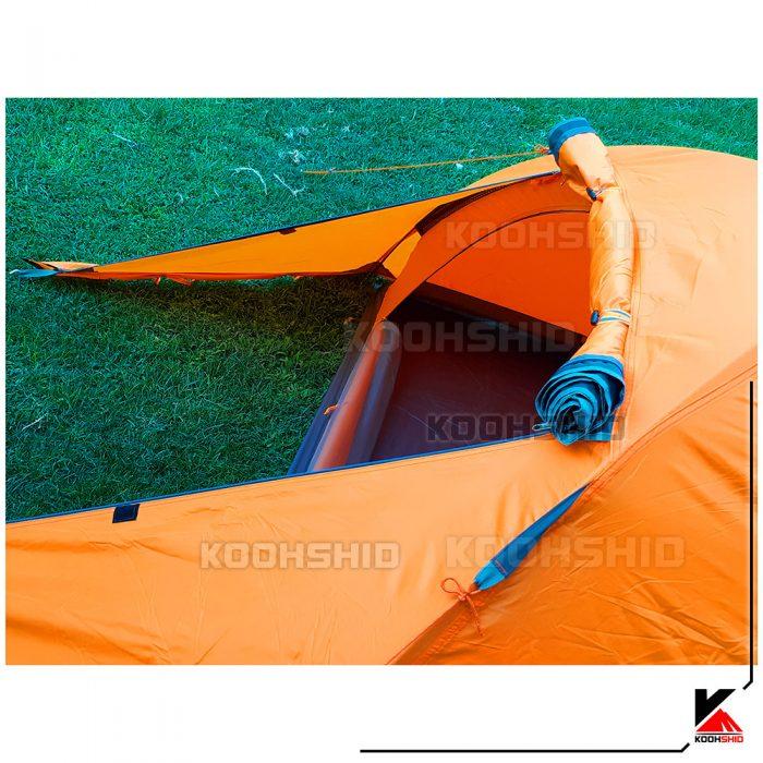 درب جلویی پوش دوم چادر دوپوش ضد آب کوهنوردی 2تا3 نفره اورجینال کله گاوی مدل Pekynew C2001B رنگ نارنجی