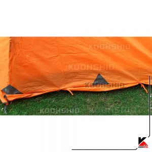گتر پوش دوم چادر دوپوش ضد آب کوهنوردی 2تا3 نفره اورجینال کله گاوی مدل Pekynew C2001B نارنجی