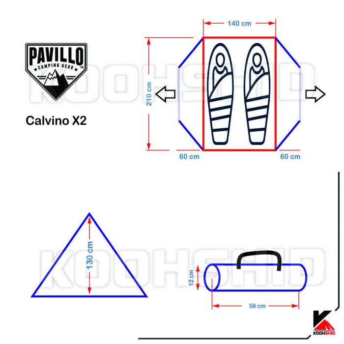 چادر کوهنوردی 2 نفره بست وی مدل Calvino X2