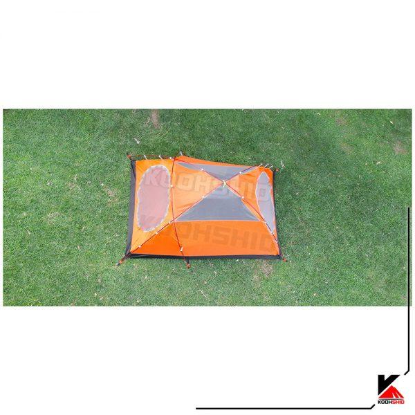 عکس از بالای پوش اول چادر کوهنوردی 2 نفره اسنوهاک مدل Snow hawk T2003 نارنجی