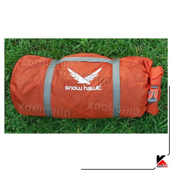 بسته بندی چادر کوهنوردی 2 نفره اسنوهاک مدل Snow hawk T2003 نارنجی