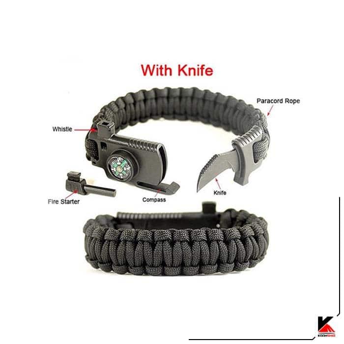 دستبند پاراکورد چاقو دار