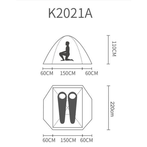 چادر 2 پلاس کله گاوی مدل k2021 کد A