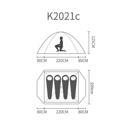 چادر 4 نفره کله گاوی مدل K2021 کد C